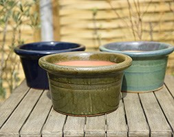 Glazed pan pot