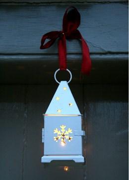 Set of three Christmas lanterns