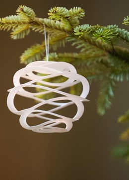 Tindra swirl tree decorations - pack of 6
