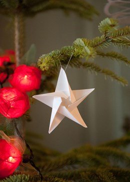Tindra star tree decorations - pack of 6