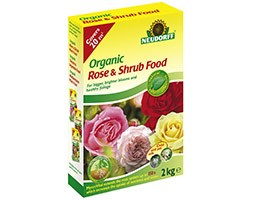 Organic rose and shrub plant food with Mycorrhiza