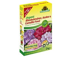 Organic rhododendron, camelia and azalea food with Mycorrhiza