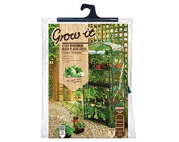 4 Tier growhouse with reinforced cover